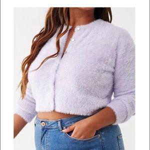 Furry sweater cardigan
